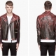 Paul Smith Gradient Rose Leather Biker Jacket