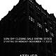 Atelier Closing Sale