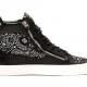 Giuseppe Zanotti Black Paisley High-Top Sneakers