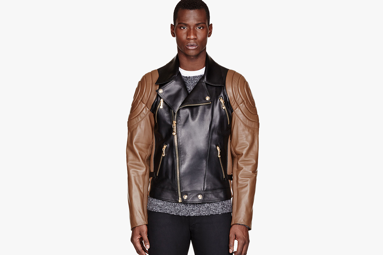 Zeitgeistworld » versace-black-brown-quilted-leather-jacket-1