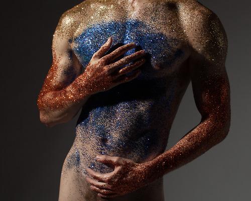 glitter scrub