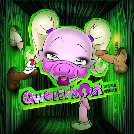 green pig portrait